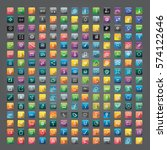icon collection vector... | Shutterstock .eps vector #574122646