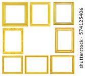 the antique gold frame on the... | Shutterstock . vector #574125406