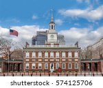 independence hall  ... | Shutterstock . vector #574125706