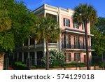 historic charleston mansion  ...   Shutterstock . vector #574129018