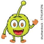 little furry monster cartoon... | Shutterstock .eps vector #574149196