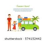 summer travel concept. family...   Shutterstock .eps vector #574152442