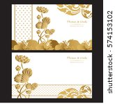 wedding invitation cards set... | Shutterstock .eps vector #574153102