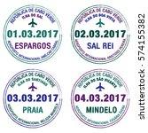 passport stamps cape verde in...   Shutterstock .eps vector #574155382