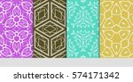 set of decorative geometric... | Shutterstock .eps vector #574171342