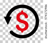 chargeback icon. vector... | Shutterstock .eps vector #574172986