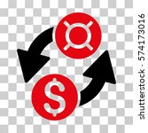 dollar currency exchange icon.... | Shutterstock .eps vector #574173016
