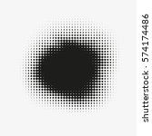 abstract vector halftone stain. ...   Shutterstock .eps vector #574174486