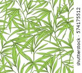 seamless pattern with bamboo... | Shutterstock .eps vector #574175512