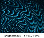 glitched spiral structure.... | Shutterstock .eps vector #574177498