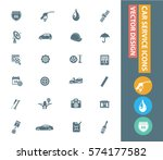 car service icon set clean... | Shutterstock .eps vector #574177582