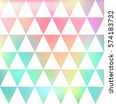 triangle pattern. crystals ... | Shutterstock .eps vector #574183732