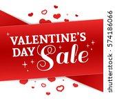 template design valentine... | Shutterstock .eps vector #574186066