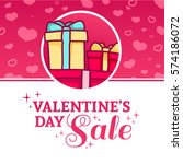 template design happy valentine'... | Shutterstock .eps vector #574186072