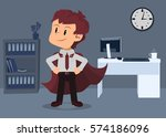 motivated employee showing a...   Shutterstock .eps vector #574186096