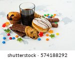 assortment of products with... | Shutterstock . vector #574188292
