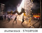 blur dragon in chinese new year ... | Shutterstock . vector #574189108