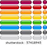 long and short pill buttons.   Shutterstock .eps vector #57418945
