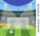 cartoon football soccer field...
