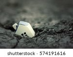 miniature yellow toy house... | Shutterstock . vector #574191616