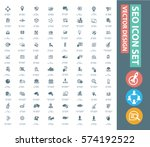 seo development icon set clean... | Shutterstock .eps vector #574192522