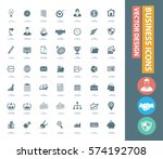 business icon set clean vector | Shutterstock .eps vector #574192708