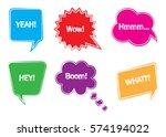 comic speech bubbles.speech... | Shutterstock .eps vector #574194022