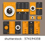 templates business cards  a4... | Shutterstock .eps vector #574194358