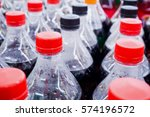 carbonated soft drink bottles... | Shutterstock . vector #574196572