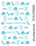 father's day postcard | Shutterstock .eps vector #574199005