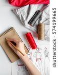 desktop designer clothes with... | Shutterstock . vector #574199665