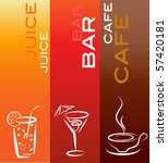 beverage icons  design template ... | Shutterstock .eps vector #57420181