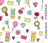 colored seamless vector pattern ... | Shutterstock .eps vector #574205416