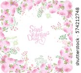rose greeting card with phrase... | Shutterstock .eps vector #574212748