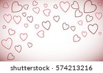 vector background with hearts ... | Shutterstock .eps vector #574213216