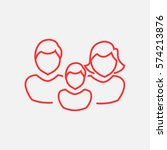 family icon flat. | Shutterstock .eps vector #574213876