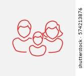 family icon flat. | Shutterstock .eps vector #574213876