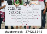 climate change ecology... | Shutterstock . vector #574218946