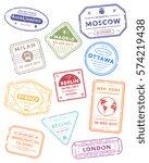 international travel visa... | Shutterstock .eps vector #574219438
