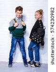 children's fashion. modern boy... | Shutterstock . vector #574230982