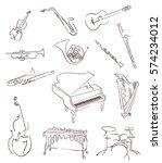 set of classical musical...   Shutterstock .eps vector #574234012
