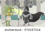 medusa gorgon serpent hair...   Shutterstock .eps vector #574237216