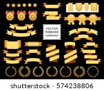 vector collection of decorative ... | Shutterstock .eps vector #574238806