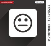 bad smile icon. button with bad ...