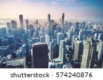 chicago skyline  usa | Shutterstock . vector #574240876