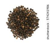 heap of hot black pepper seeds...   Shutterstock . vector #574241986