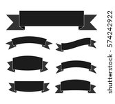 black ribbon banners set.... | Shutterstock .eps vector #574242922