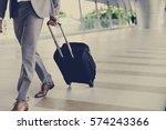 businessmen luggage business... | Shutterstock . vector #574243366