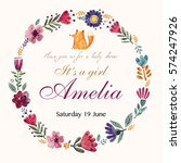 baby shower invitation with...   Shutterstock .eps vector #574247926