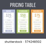 pricing table template with... | Shutterstock .eps vector #574248502